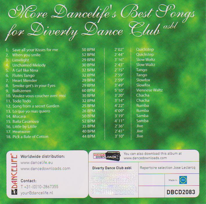 CD 2 - Pochette verso